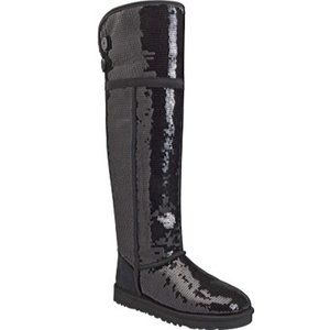 New!  UGG Over The Knee Bailey Button Sparkle Boot